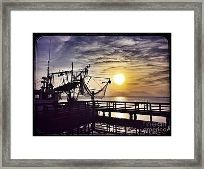 Sunset At Snoopy's Framed Print