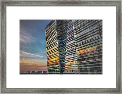 Sunset At Snowhill Framed Print