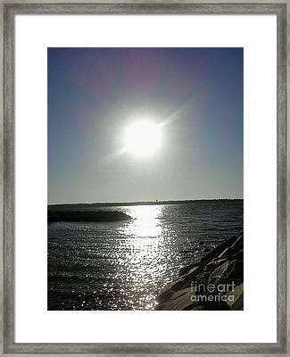 Sunset At Solomons Island Md Framed Print