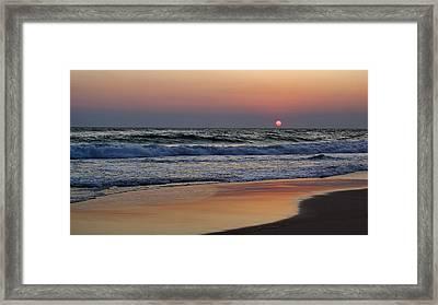 Sunset At St. Andrews Framed Print