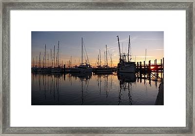 Sunset At St. Marys Framed Print by Joel Deutsch