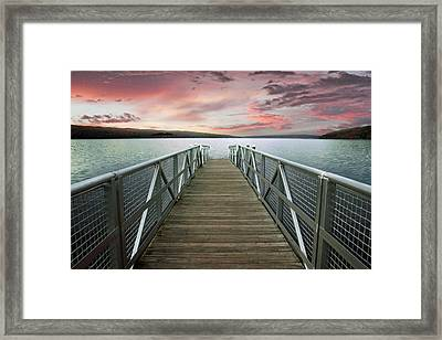 Sunset At Stewart Park Framed Print