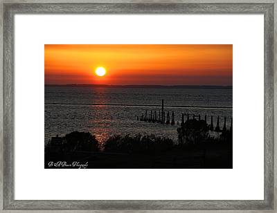 Framed Print featuring the photograph Sunset At St.marks Nwf by Barbara Bowen