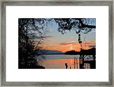 Sunset At Sunset Marina Framed Print by Bill Perry