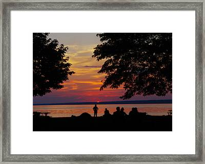 Sunset At Sylvan Beach Framed Print