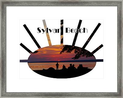 Sunset At Sylvan Beach - T-shirt Framed Print