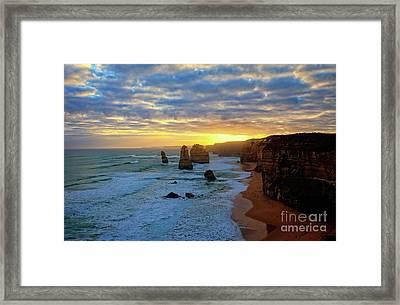 Sunset At The 12 Apostles Framed Print by Franz Zarda