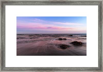 Sunset At The Atlantic Framed Print