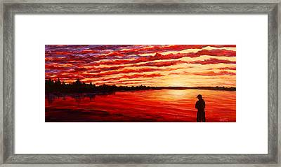 Sunset At The Bay Framed Print by Douglas Keil
