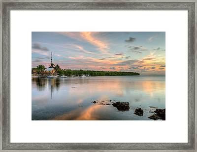 Sunset At The Beach Framed Print by Al Hurley