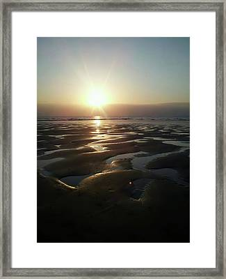 Sunset At The Beach Framed Print
