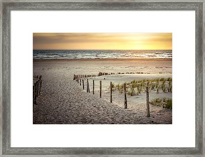 Framed Print featuring the photograph Sunset At The Beach by Hannes Cmarits