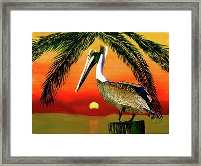Sunset At The Beach Framed Print by William Demboski