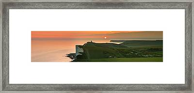 Sunset At The Belle Tout Lighthouse Framed Print