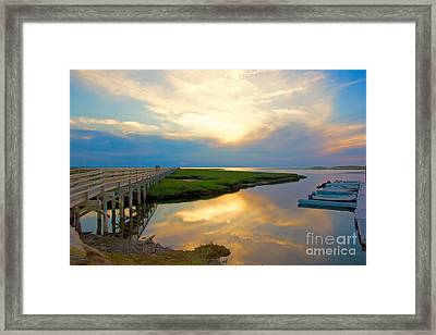 Sunset At The Boardwalk Framed Print by Amazing Jules