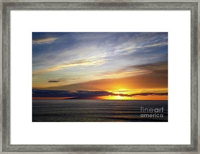 Sunset At The Canary Island La Palma Framed Print by Juergen Klust
