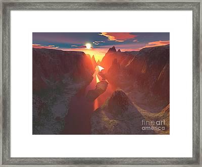 Sunset At The Canyon Framed Print by Gaspar Avila