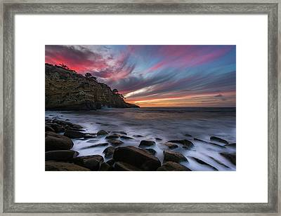 Sunset At The Cove Framed Print