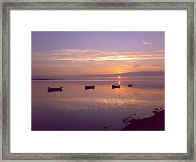 Sunset At The Estuary Framed Print by Martina Fagan