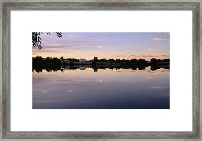 Framed Print featuring the photograph Sunset At The Farmhouse by Monte Stevens