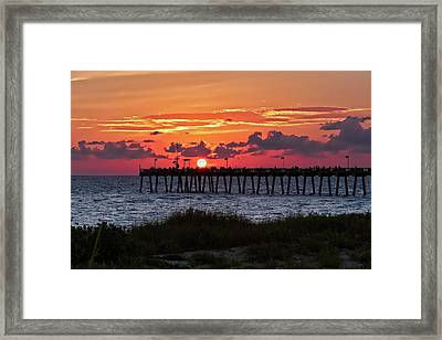 Sunset At The Fishing Pier   -   Fishingpier121662 Framed Print