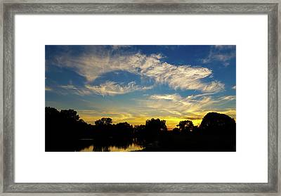 Sunset At The Lake  Framed Print