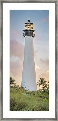 Sunset At The Lighthouse Framed Print by Scott Mullin