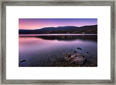 Sunset At The Lozoya Valley Framed Print