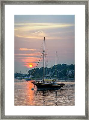 Sunset At The Marina Framed Print by Scott Thorp