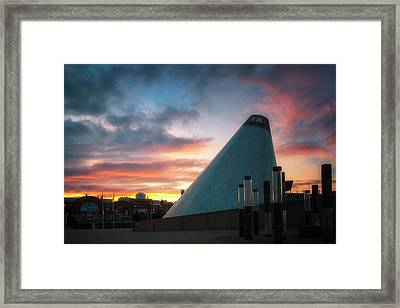 Sunset At The Museum Of Glass Framed Print by Ryan Manuel