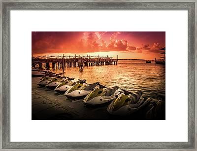 Sunset At The Oceanside Pier Framed Print by Art Spectrum
