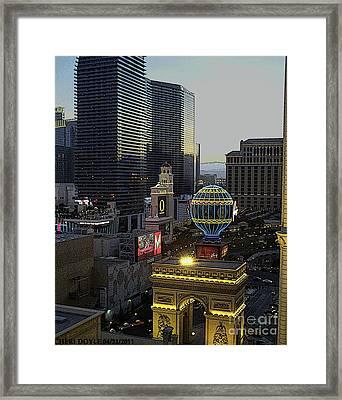 Sunset At The Paris Framed Print by Cheri Doyle