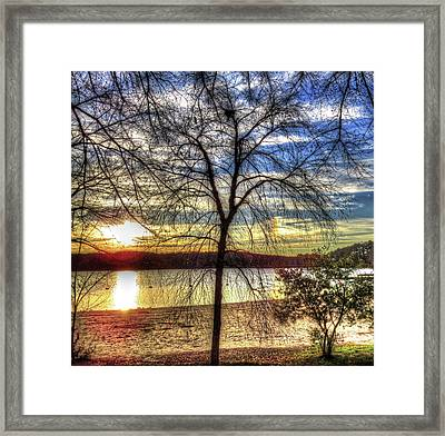 Sunset At The Park Framed Print