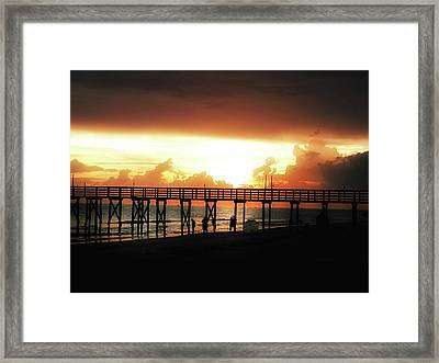 Sunset At The Pier Framed Print by Bill Cannon