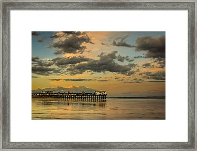 Sunset At The Pier Framed Print by Jason Baldwin - Shared Perspectives  Photography