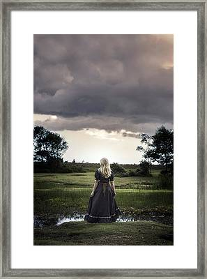 Sunset At The Pond Framed Print by Joana Kruse