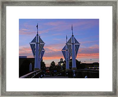 Sunset At The Rio Framed Print by Emmy Marie Vickers