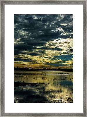Sunset At The Wetlands Framed Print