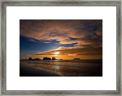 Sunset At Tofino Framed Print by Detlef Klahm