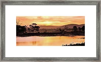 Sunset At Triabunna Tasmania Framed Print by Lexa Harpell