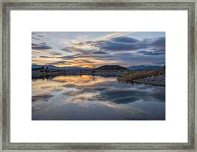 Sunset At Trout Lake Framed Print by Loree Johnson