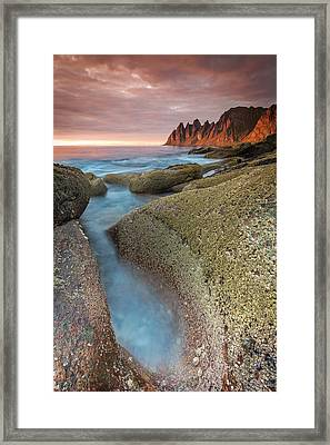 Sunset At Tungeneset Framed Print by Alex Conu