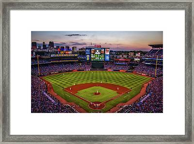 Sunset At Turner Field - Home Of The Atlanta Braves Framed Print