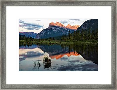 Framed Print featuring the photograph Sunset At Vermillion Lakes, Banff Canada 2 by Dave Dilli