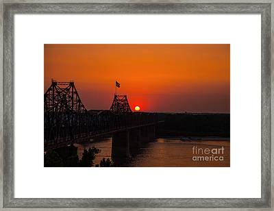 Sunset At Vicksburg Framed Print by T Lowry Wilson