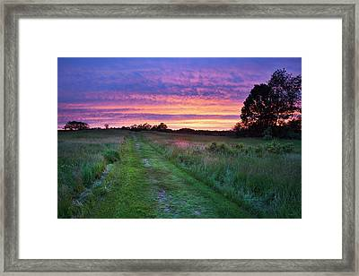 Sunset At Wagon Hill, Durham Nh Framed Print