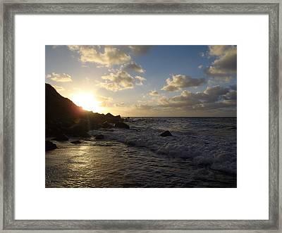 Sunset At Well's Bay Framed Print by Senske Art