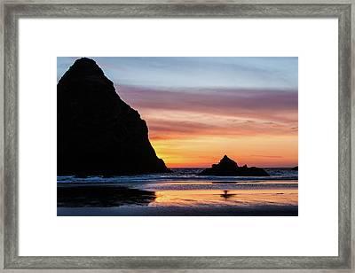 Sunset At Whalehead Beach Framed Print