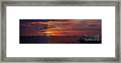 sunset at White Beach Framed Print