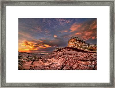 Sunset At White Pocket Framed Print